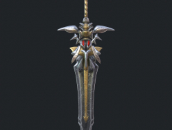 Fantasy sword 19 3d model