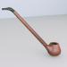 3d pipe smoking model buy - render