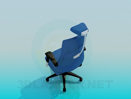 3d model Chair on casters with headrest - preview