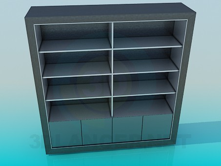 3d model Stand for books - preview
