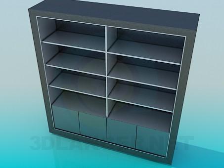 modelo 3D Soporte para libros - escuchar