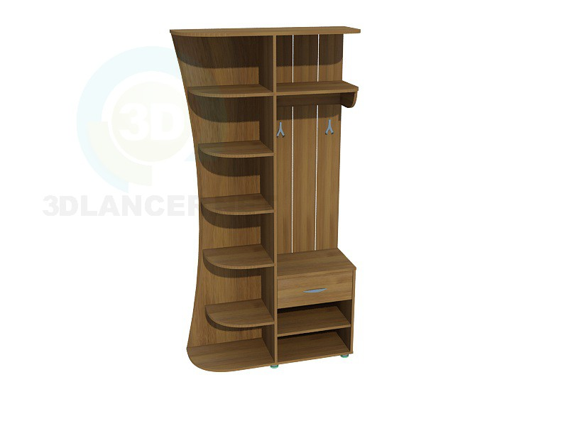 3d model Wardrobe in Hall 2 - preview