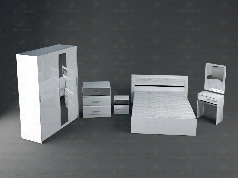 3 डी मॉडल बर्फ की रानी बेडरूम - पूर्वावलोकन