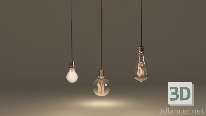 3 डी मॉडल प्रकाश बल्ब - पूर्वावलोकन