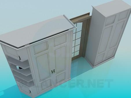 modelo 3D Gabinetes en un conjunto - escuchar