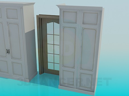 3d model Cabinets in a set - preview