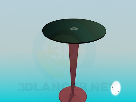 3d model High round table on the stem - preview