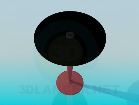 modelo 3D Mesa alta redonda en el tallo - escuchar
