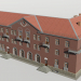 3d Three-storey building with a store 1-363-19 model buy - render