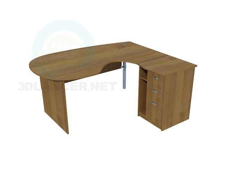 3d modeling Office desk model free download