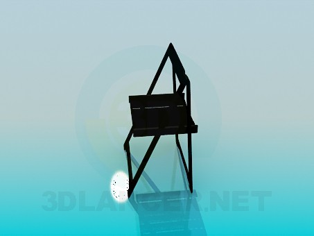 3d model Folding wooden chair - preview