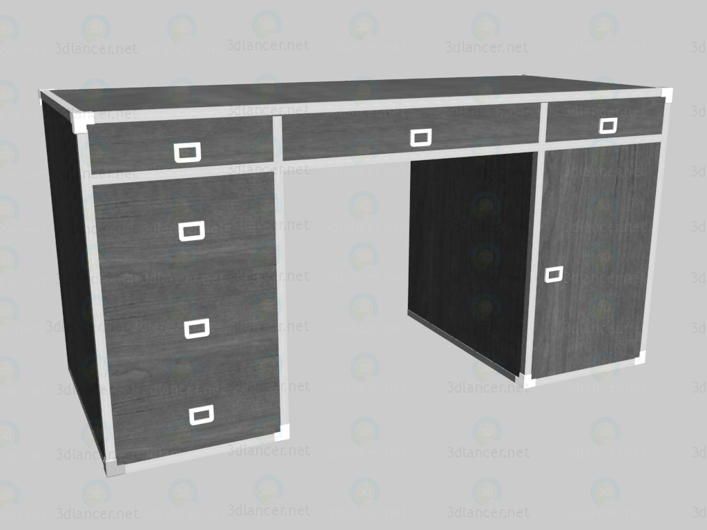3d model Writing desk (large) - preview