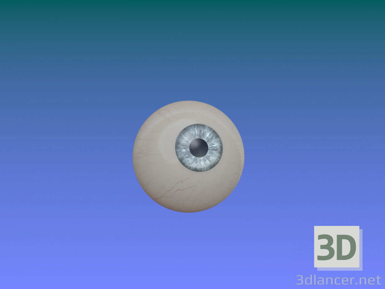 3d model eyeball - preview