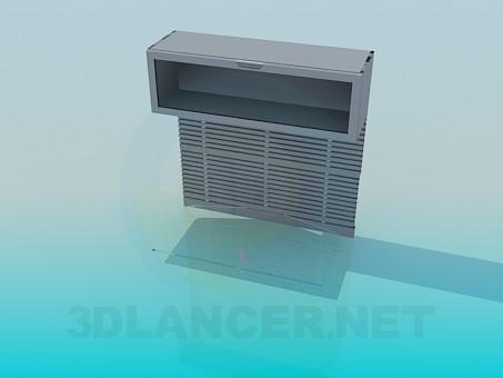 modelo 3D Estante de pared doble - escuchar