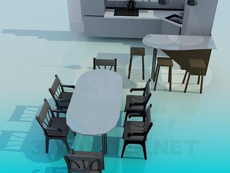3d модель Кутовий кухонний гарнітур – превью