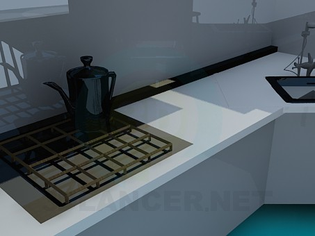 3d model The corner kitchen - preview