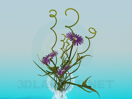 3d model Flower in vase - preview