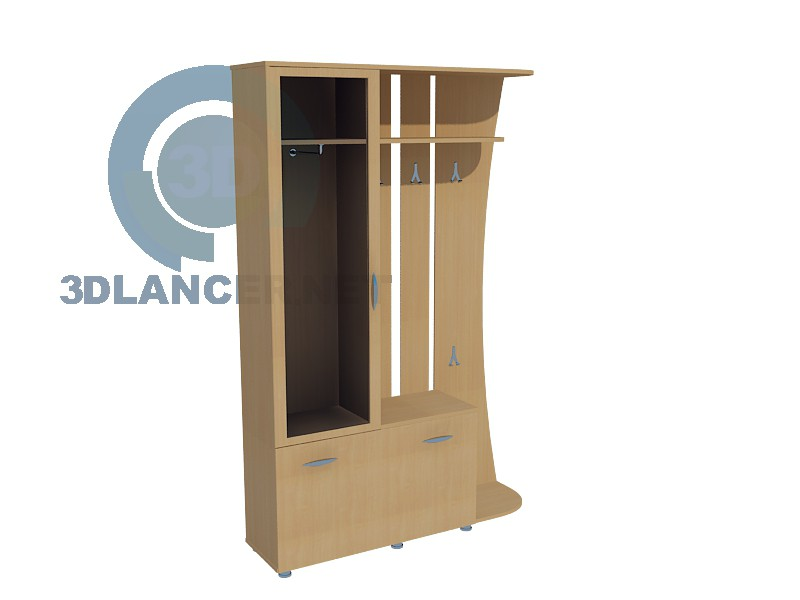 3d model Wardrobe in Hall 3 - preview