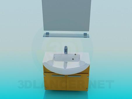 3D-Modellierung Waschbecken Modell kostenlos herunterladen