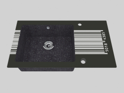 El lavado del cristal granítico, 1 cámara con el ala para el secamiento - el borde redondo Capella (