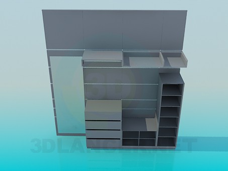 descarga gratuita de 3D modelado modelo Estantería