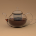 3d Glass teapot with lid and teapot model buy - render