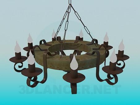 descarga gratuita de 3D modelado modelo Antiguo candelabro