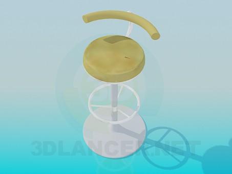3d модель Стілець на ніжці – превью