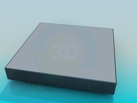 3d модель Очень низкий столик – превью