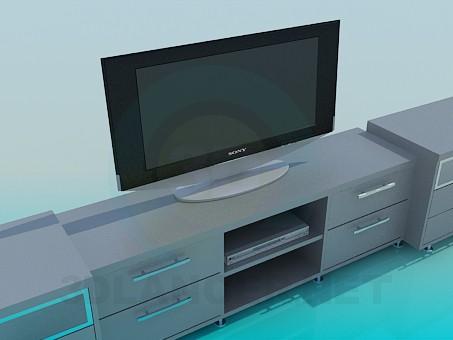 modelo 3D Mesa de TV - escuchar