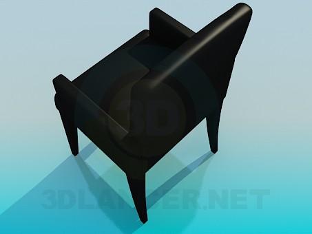 3d модель Стул с подлокотниками – превью