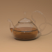 3d Glass teapot with a lid model buy - render