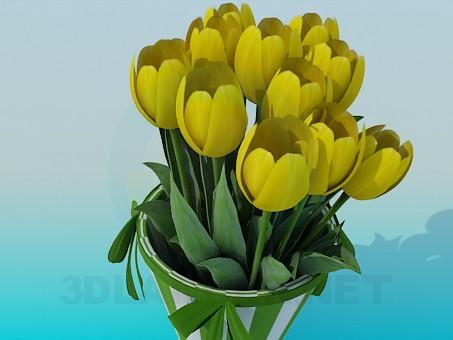 3d модель Тюльпаны – превью