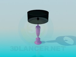 Table lamp with black shade