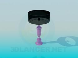 Siyah gölge ile masa lambası