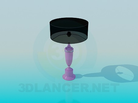 modelo 3D Lámpara de mesa con pantalla en negro - escuchar