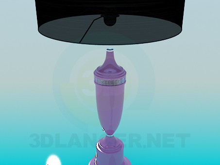 3d model Table lamp with black shade - preview