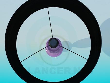 3d модель Настільна лампа з чорний абажуром – превью
