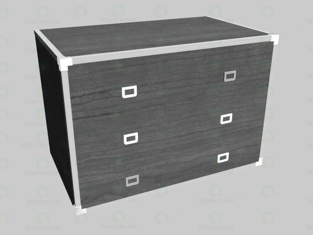 3d model Low chest of drawers VOX - preview