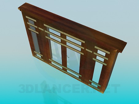 3d модель Входные двери – превью