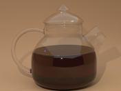 Glass teapot with a lid