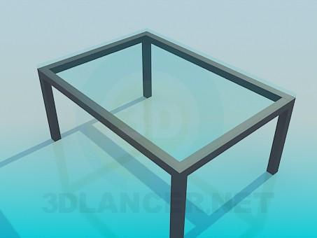 3d модель Стеклянный журнальный столик – превью