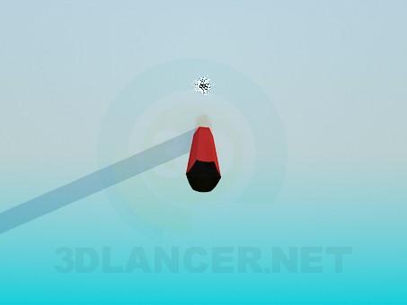 modelo 3D Lápiz - escuchar