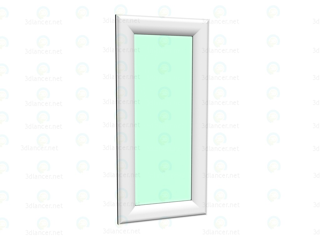 modelo 3D Elegante espejo brillante blanco 188 x 88 - escuchar