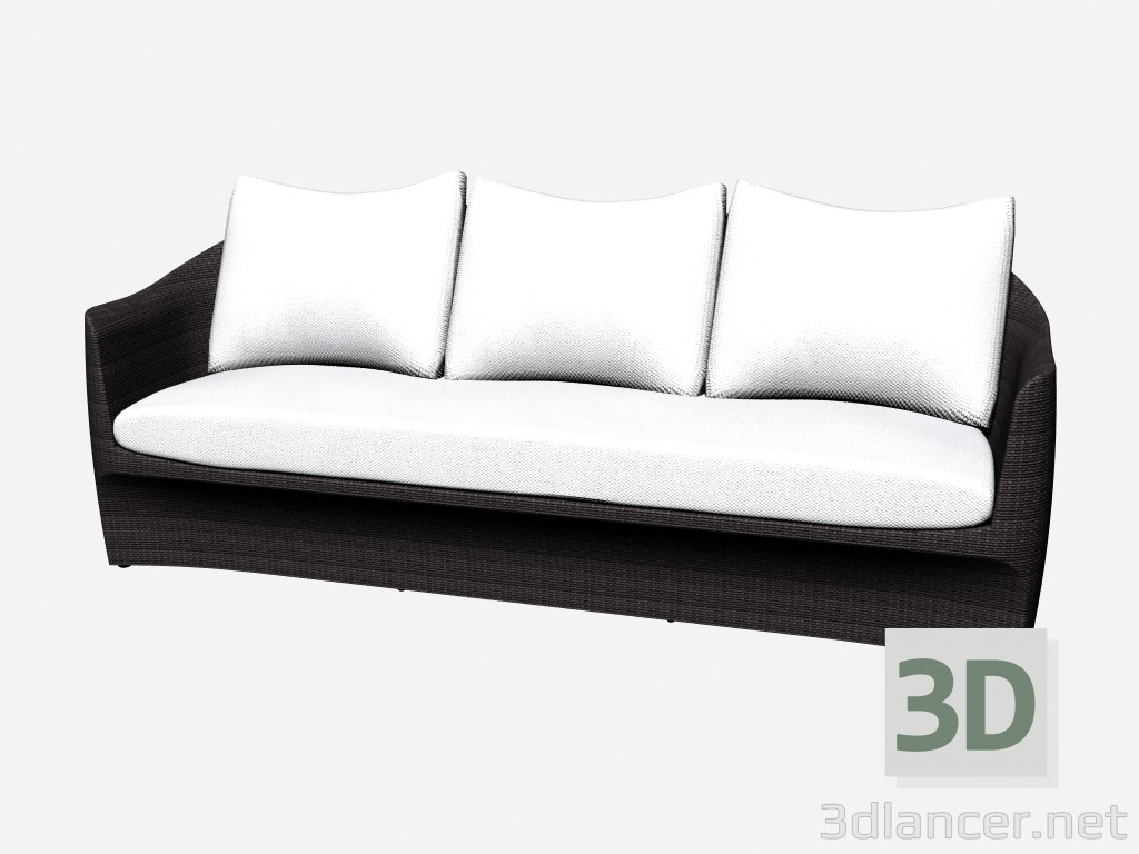 3d model Sofa 3-seater 3 Seater Sofa 46500 46550 - preview