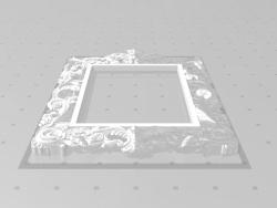 Geschnitzter Rahmen für einen Spiegel