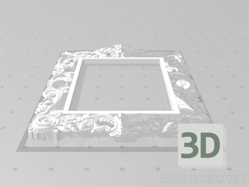3d model Carved frame for a mirror - preview