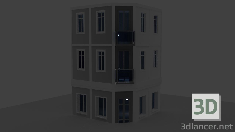 3 डी मॉडल इमारत - पूर्वावलोकन