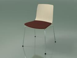 अध्यक्ष 3973 (सीट पर एक तकिया के साथ 4 धातु पैर, सफेद सन्टी)