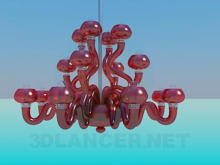 modelo 3D Lámpara chandelier de cristal coloreado - escuchar
